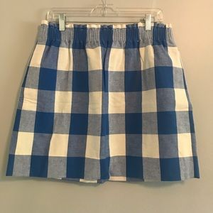 Plaid Elastic Waist Skirt